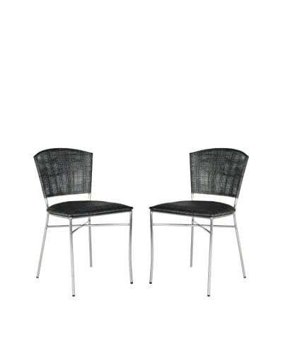 Safavieh Set of 2 Melita Side Chair, Black