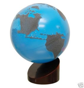 Montessori Sandpaper Globe of Land and Water