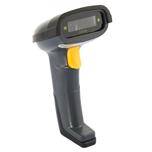 New Wired Hand-held Laser USB Automatic Barcode Scanner Barcode Reader Black