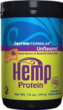 Jarrow Formulas Hemp Protein (Organic) Unflavored -- 16 oz - Vegan ( Multi-Pack)