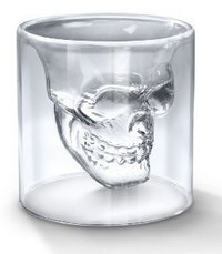 hayabusa TM Crystal Skull Pirate Shot Glass 10pcs/set Novelty Gift Vodka Borosilicate Cup Drink Cocktail Skull Head Glass Beer Mugs Tea Cup from General