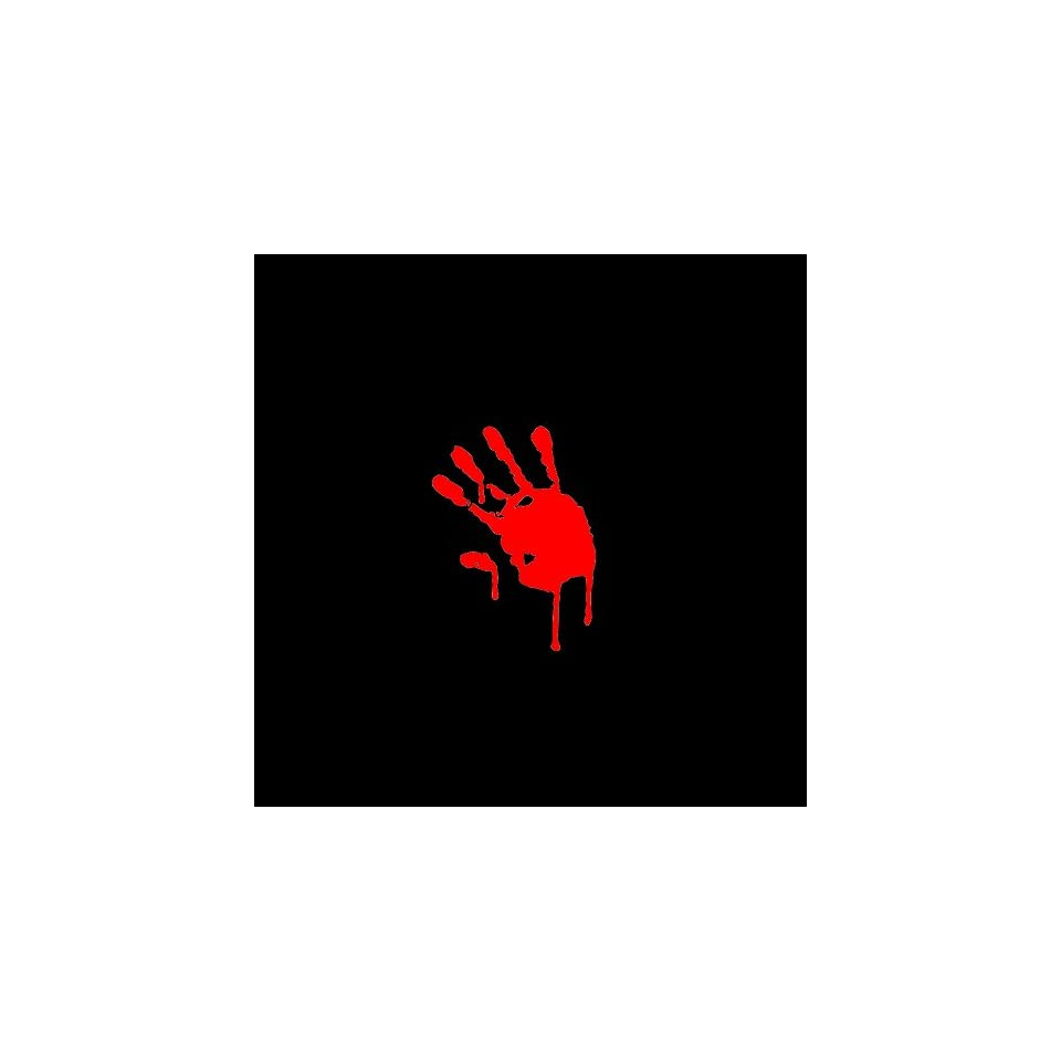 Zombie Hand Print Car Window Decal Sticker Red 4