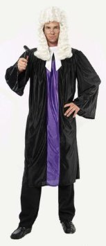 Judge Robe & Collar Fancy Dress Costume - One Size by Parties Unwrapped (Judge Robes Costume)
