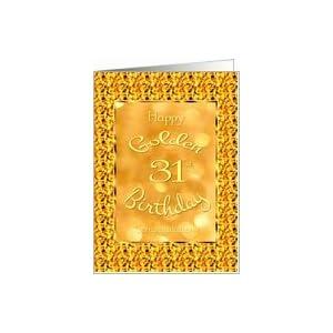 ... Golden Birthday-Age 31-Golden Design Card: Health &