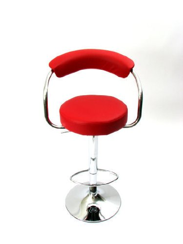 Kitchen Bar Stool Red Padded