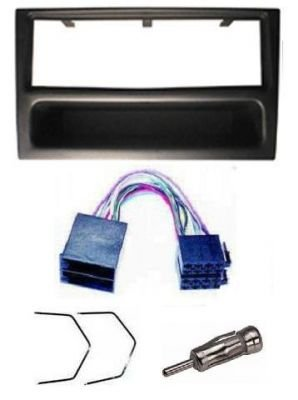 VAUXHALL CORSA/COMBO STEREO/RADIO FITTING KIT FASCIA/FACIA PLATE AERIAL ADAPTOR ISO LEAD & KEYS