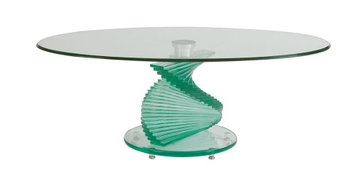 Glass Spiral Coffee Table Clear