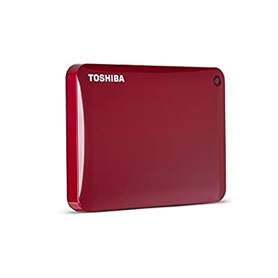Toshiba Canvio Connect II 500GB Portable Hard Drive, Red (HDTC805XR3A1)