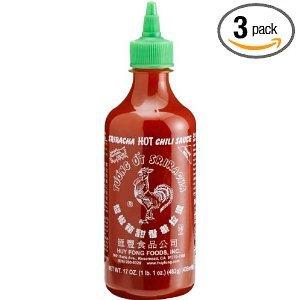 Huy Fong - Sriracha Hot Chili Sauce (Net Wt. 17 Oz.) - 3 Pack