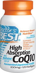 Doctor's Best High Absorption CoQ10 (100 mg), Softgels by Doctor's Best