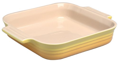 Le Creuset Stoneware 91/4-Inch Square Dish, Citrus - Buy Le Creuset Stoneware 91/4-Inch Square Dish, Citrus - Purchase Le Creuset Stoneware 91/4-Inch Square Dish, Citrus (Le Creuset, Home & Garden, Categories, Kitchen & Dining, Cookware & Baking, Baking, Bakers & Casseroles)