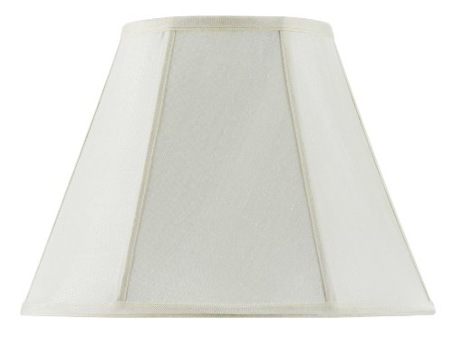 Cal Lighting SH-8106/14-EG Vertical Piped Basic Empire Shade with 14-Inch Bottom, Egg Shell