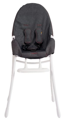 Miraculous Bloom Nano Folding High Chair With White Frame In Downtown Machost Co Dining Chair Design Ideas Machostcouk