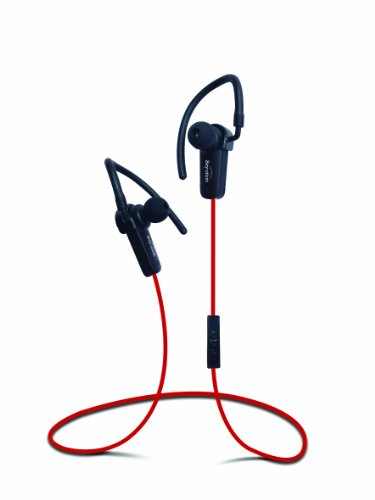 New Red Sports Stereo Wireless Bluetooth 4.0 Stereo Earbuds Headset Headphone With In-Line Microphone And Control, Built In Li-Battery, Noise Cancellation Technology Bluetooth 4.0+ A2Dp Newest Technology