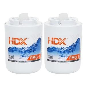 HDX FMG Replacement Refrigerator Water Filter Twin Value Pack for GE Refrigerators