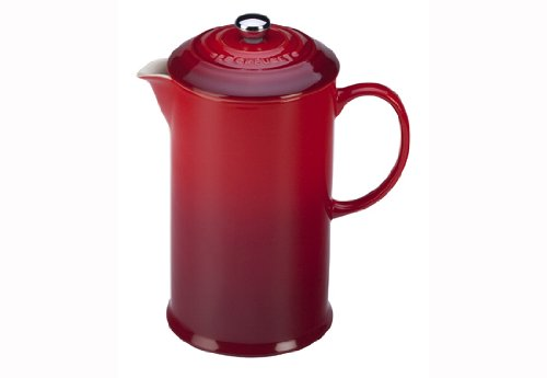 Le Creuset PG8200-1067 French Press, 0.8 Litre, Cherry
