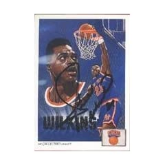 Gerald Wilkins New York Knicks 1991 Upper Deck Chklst Art Autographed Hand Signed... by Hall of Fame Memorabilia
