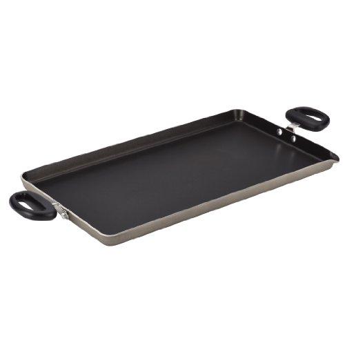 Farberware Dishwasher Safe Nonstick Aluminum 18-Inch x 10-Inch Double Burner Griddle, Champagne (Double Burner Farberware compare prices)