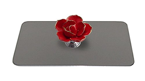 Toaster Tops A3002-2S Red Flower Toaster Top, Silver/Red (Flower Toaster compare prices)