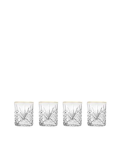 Godinger Set of 4 Gold-Banded Dublin 8-Oz. Double Old Fashioned Glasses