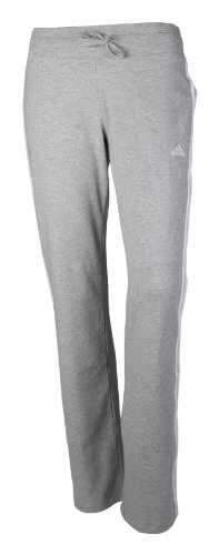 Adidas ESS 3s Knit Pant Damen Sporthose Jogginghose Fitnesshose Hose Trainingshose Freizeithose Frauen Grau Weiss Gr&#246;&#223;e 50 Langgr&#246;&#223;e Long