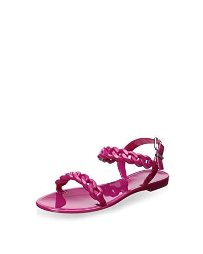 Givenchy Women's Chain-Link Flat Jelly Sandal