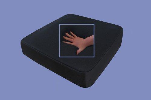 Gel / Gelschaum Sitzkissen / Anti Dekubitus Sitzpolster 52 x 45 x 10 cm SCHWARZ für Rollstuhl / Stuhl / Auto / LKW / Bürostuhl / Chefsessel Kissen Stützkissen Rücken + Gesäß (schwarz, RG 65 (weich))