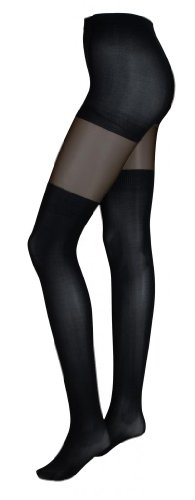 Intimate Portal Women's Fake It Thigh High Opaque Tights