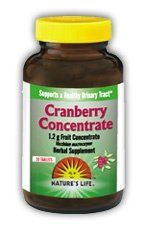 Nature de comprimés de canneberge concentré de vie, 1200 mg, 60 Count