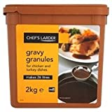 Chefs Larder Gravy Granules for Chicken and Turkey Dishes Makes Approx 26L 2kg Tub