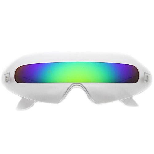 zeroUV - Retro Futuristic Cyclops Color Mirroed Lens Wrap