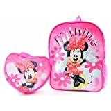 Disney Minnie Mouse Large Backpack and Utility Bag attached on the front. - Full size backpack, a non insulated bag attached. Best Buy. Kids love it
