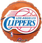 "Anagram International Los Angeles Clippers Flat Party Balloons, 18"", Multicolor"
