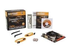 ThinPC D2550ITX Wifi Supreme Zotac Mini ITX Motherboard HDMI/ DVI / Atom 1.8 Dual Core