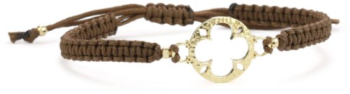Mizuki 14k Poly Silk Macramé Bracelet with Open Flower Charm