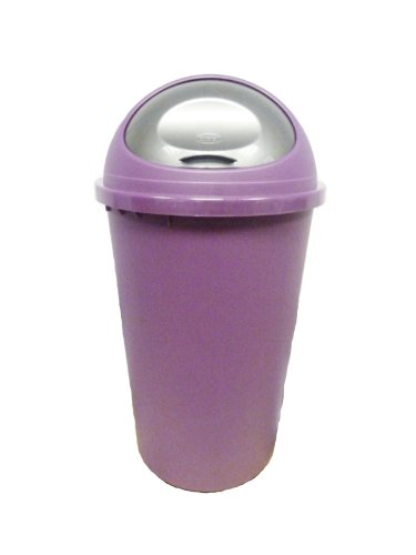 PLUM/PURPLE (NEW COLOUR) 25L BULLET TOP BIN / DUSTBIN / RUBBISH BIN / KITCHEN / HOME / PLASTIC.