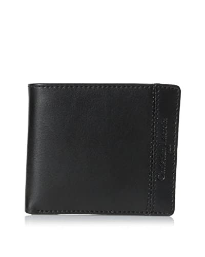 Christian Lacroix Men's Hipster Billfold Wallet, Black