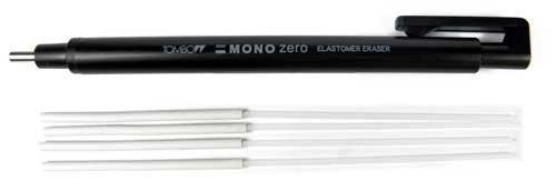 tombow-mono-zero-prazisions-radierer-runde-spitze-4-ersatzradierer-schwarz