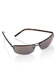 UV Protection Rimless Metal Frame Sunglasses