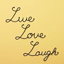 Live Love Laugh Set 3 Wall Mount Metal Wall Word Sculpture Wall Decor