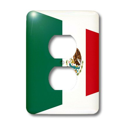 Lsp_171666_6 Florene Flags Of World Unique - Image Of Mexican Flag In Contemporary Style - Light Switch Covers - 2 Plug Outlet Cover