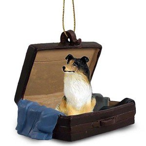 Collie Tri-Color Traveling Companion Dog Ornament