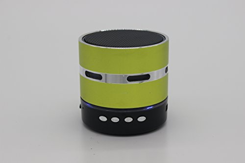 (2015 New Arrival)high Quality Mini Lightweight Portable Premium Sound Wireless Bluetooth Speaker with Rechargeable Battery - Enhanced Bass, Support Micro Tf Card with LED Light(S902-LightYellow) t050 3w mini portable retractable stereo speaker w tf black golden 16gb max