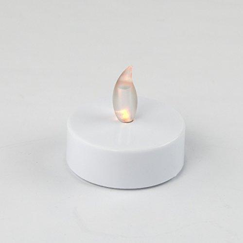 LED Teelicht XL 1Stück flackernd ø5,5cm weiß LED Kerze LED Deko