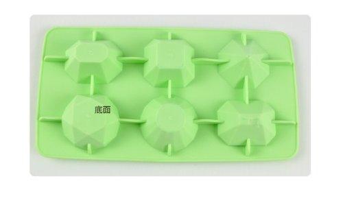 SMO Parti en silicone en forme de diamant Moules à glaçons Mold Maker nécessaire