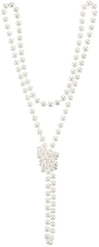 Winter White Pearl Beads Costume Necklace