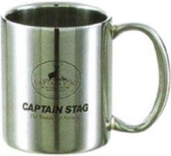 キャプテンスタッグ パラオダブルステンマグカップ240ml M-1249