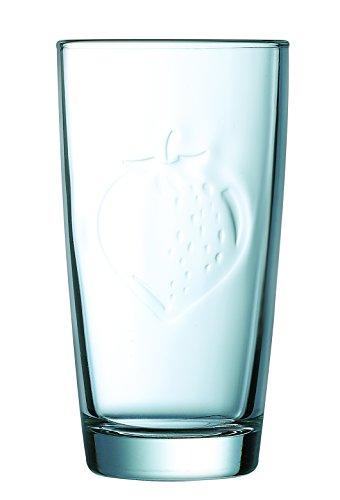 Luminarc 8012293 Fruity Energy Fraise Lot de 6 Gobelets Forme Haute Sodo Coupe à Chaud Transparent 30 cl