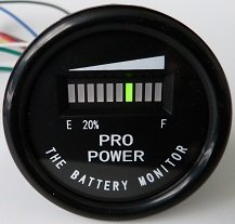 PRO12-48M ProPower's 48 Volt Battery Indicator, Meter for EZGO, Yamaha, Club Car - Golf Cart (Club Car Battery compare prices)