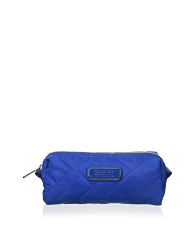 Marc by Marc Jacobs Women's Crosby Quilt Nylon Narrow Cosmetic Pouch, Blue